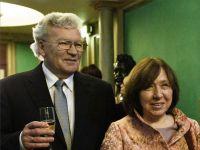 SA with her publisher Boris Pasternak. Nobel Prize Concert. 8 December 2015. © Photo M. Kabakova