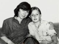 With niece Natasha, 1992, Photo: Sergey Shapran