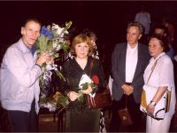 With the Readers, Minsk, 2001 Photo from the archive of S. Alexievich