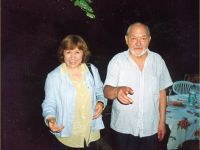 Russian philosopher Juri Karakin & S.A, 2002 Photo from the archive of S. Alexievich