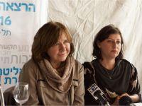 Пресс-конференция Светланы Алексиевич, 7 февраля 2016 в Тель-Авиве – с переводчицей -- © Фото M. Кабаковой