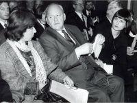 Лейпцигская книжная ярмарка 1998, с Президентом Германии Романом Херцогом -- Фото из архива С. Алексиевич