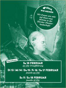 Chronik der Zukunft. Theater von Infinite Cooperation. Frei nach dem Buch von Swetlana Alexeijewitsch. Zürich. Switzerland. Februar 2018